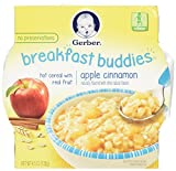 Gerber Breakfast Buddies Hot Cereal with Real Fruit Apple Cinnamon 4.5 Ounce