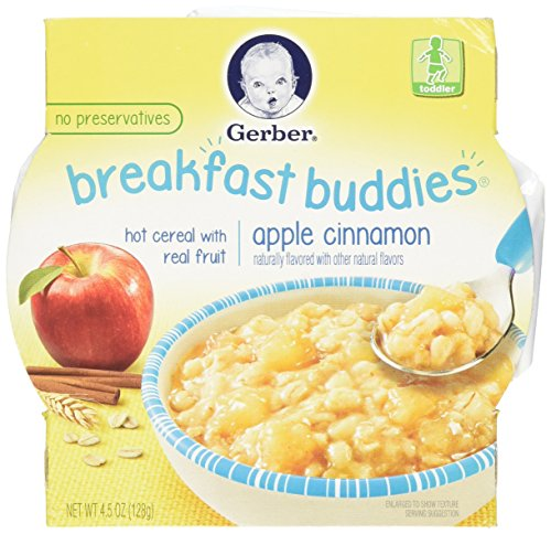 Gerber Breakfast Buddies Hot Cereal with Real Fruit Apple Cinnamon 4.5 Ounce by Gerber