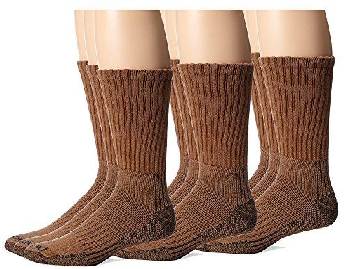 Brown Crew Socks - Dickies Men's Heavyweight Cushion Compression Work Crew Socks, Duck, 9 Pair, Size 6-12