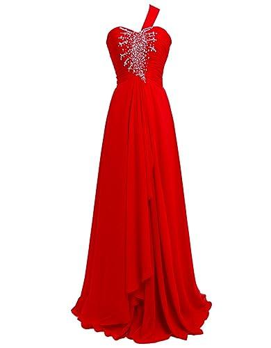 FAIRY COUPLE One-shoulder Formal Evening Party Dress D0099