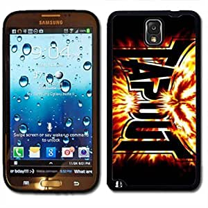 Samsung Galaxy Note 3 Black Rubber Silicone Case - Tapout Flames ufc mma fighting tapout Kimberly Kurzendoerfer
