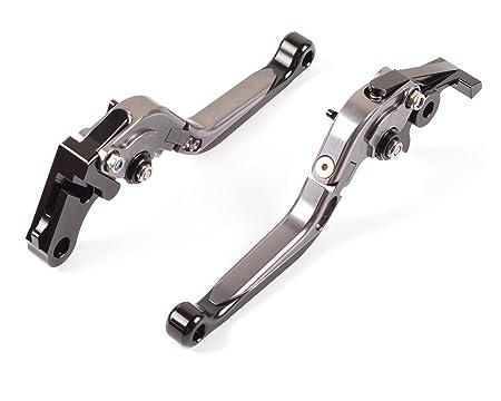 Tencasi Titanio CNC Plegable Extensible Ajustable Palanca de embrague de freno para YAMAHA FZ6 FAZER / S2 2004-2010 , FZ6R 2009-2015 , XSR900 ABS 2016-2017, ...