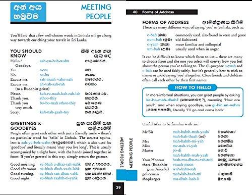 Lonely - 1743211929 Lonely Planet Sinhala Phrasebook /& Dictionary Sri Lanka