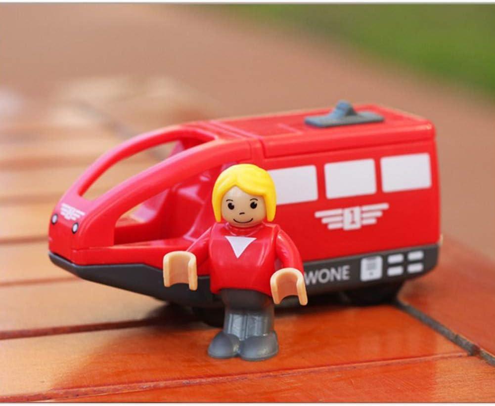 Alician Magnética del Tren eléctrico de Madera Pista Combinación de Juguete para niños Chicos Regalo de cumpleaños de Las Red