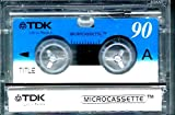 TDK MC-90 Telephone Microcassette Tape for Dictation and answering machines 90 minutes per side when recording at dictation slow speed. Time on Answer machines varies from 45 minutes per side to 90 minutes per side depending on the speed the machine recor