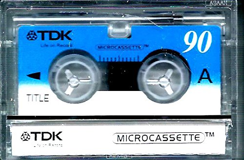 TDK MC-90 Telephone Microcassette Tape for Dictation and answering machines 90 minutes per side when recording at dictation slow speed. Time on Answer machines varies from 45 minutes per side to 90 minutes per side depending on the speed the machine recor by D5004