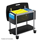 Safco Scoot Mobile Rolling Office Document Storage Organizer File Cart Black by Safco