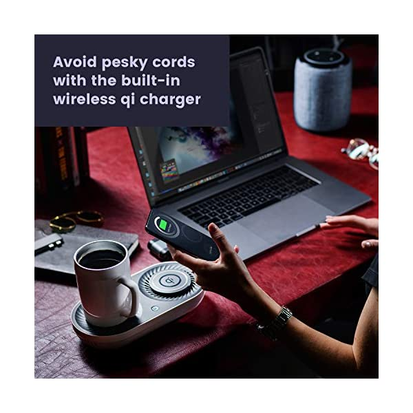 Nomodo Trio Wireless Qi Certified Fast Charger With Mug Warmerdrink Cooler