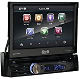 SSL SD730M In-Dash Single-Din 7-inch Motorized Detachable Touchscreen DVD/CD/USB/SD/MP4/MP3 Player Receiver with Remote