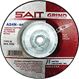 United Abrasives 4 1/2'' X 1/4'' X 5/8'' - 11 A24N 24 Grit Aluminum Oxide Type 28 Grinding Wheel, Package Size: 10 Each