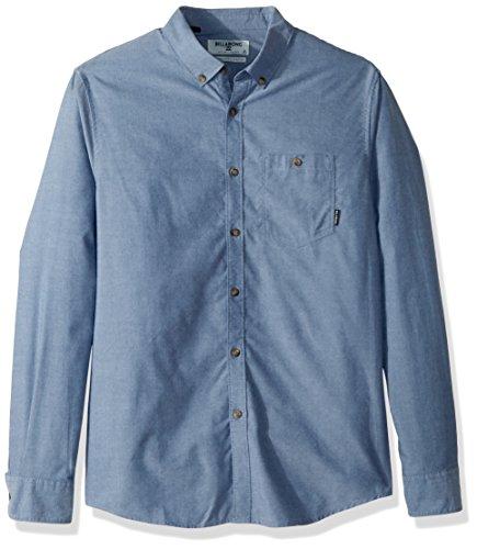 (Billabong Men's All Day Oxford Long Sleeve Shirt, Blue, M)