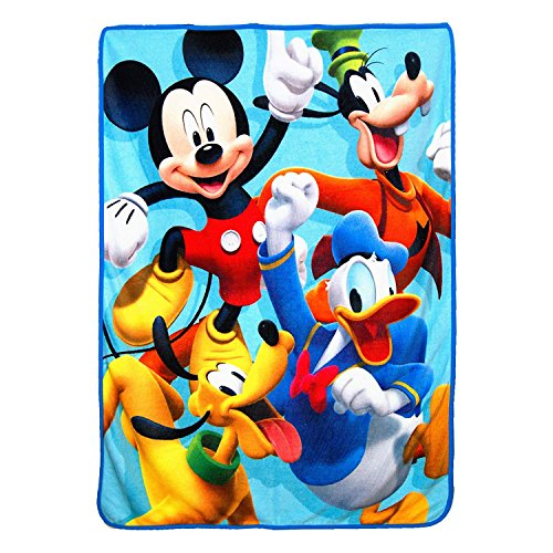 """Mickey Mouse Roadster Racers 4 Ever Micro Throw Blanket 46"""""""
