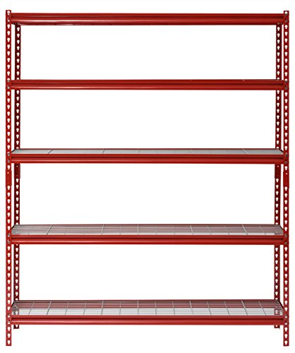 Muscle Rack UR602472WD5-R 5-Shelf Steel Shelving Unit, 60