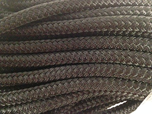 Blue Ox Rope 5/16'' by 100' Double Braided Polyester Halyard Line, Black by Blue Ox Rope (Image #2)