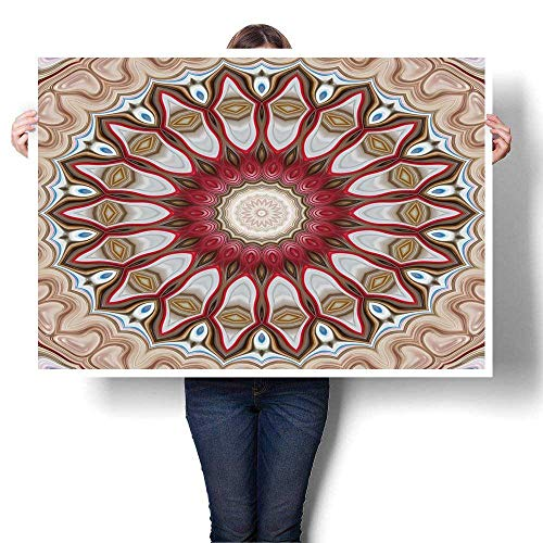 SCOCICI1588 Canvas Wall Art for Bedroom Home Decorations Ornament Mandala Style Raster for Design Wallpaper Print Fashion Painting,56