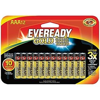 Amazon.com: Eveready Gold Alkaline Batteries AAA, In