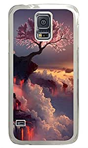 Samsung Galaxy S5 Landscapes Flowering Fire PC Custom Samsung Galaxy S5 Case Cover Transparent