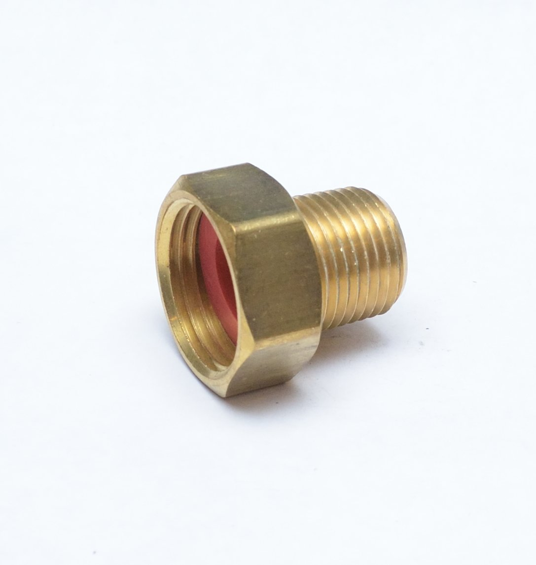 """FASPARTS 1/2"""" Male NPT MPT MIP to 3/4"""" Female GHT Garden Hose Thread Adapter Brass Fitting Fuel/Air/Water/Boat/Gas/Oil WOG House/Boat/Lawn/Power Wash/Irrigation"""