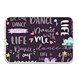 yyoungsell Dance With Me Entrance Rug Rubber Floor Mats Washable Doormat Shoe Scraper For Home