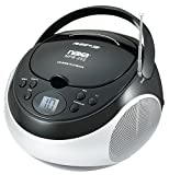 NAXA NBP252-BLK Portable MP3/CD Player with AM/FM Stereo Radio (Black)