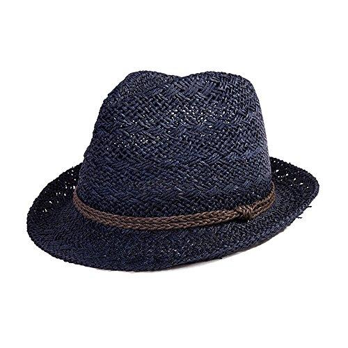 SiggiHat Panama Summer Fedora Trilby Straw Sun Hats For Men Safari Beach Hat  - Foldable - 55-62CM - Buy Online in Oman.  0d05424dab87