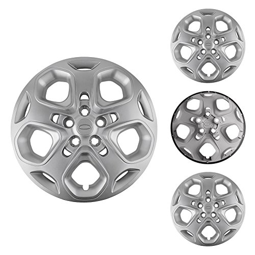 """Steel Wheel 5 Lug (Ford Fusion Hubcaps, LEDKINGDOMUS 4pcs Hub Caps for Ford Fusion with 17"""" Steel Wheels 5 Lug Hubcaps Wheel Covers OE Number AE5Z-1130-C AE5Z-1130-D AE5Z-1130-AA)"""