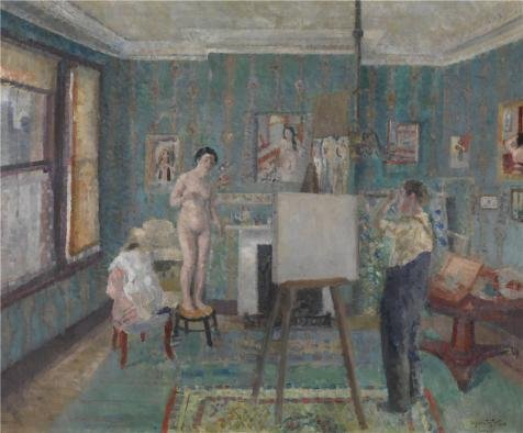 - Oil Painting 'Model In The Studio By Edgard Tytgat,20th Century' Printing On Perfect Effect Canvas , 20x24 Inch / 51x61 Cm ,the Best Home Office Gallery Art And Home Gallery Art And Gifts Is This Vivid Art Decorative Prints On Canvas