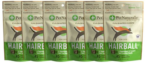 Pet Naturals of Vermont 6-Pack Hairball Chews for Cats Plus Free Calming Chews, My Pet Supplies