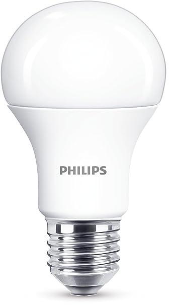 Philips Bombilla LED estándar E27, luz blanca cálida 100 W, 1521 lm: Amazon.es: Iluminación