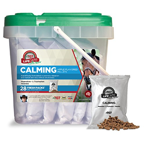 Formula 707 Calming Equine Supplement, Daily Fresh Packs, 28 Day Supply - L-Tryptophan, Thiamine & Magnesium Provide Support to Improve Focus in Horses
