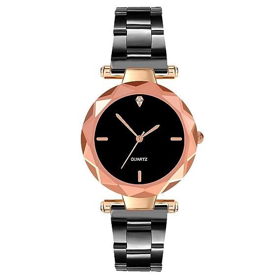 Reloj de Mujer, Esfera pequeña Decorativa con Diamante Negro ...