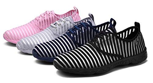 MOHEM Poseidon Frauen Luft schnell trocknende Aqua Schuhe Slip-On Wasser Schuhe Casual Mesh Wanderschuhe Pink077