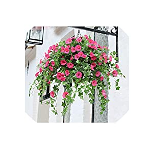 Wild-World DECOR 65.5cm Artificial Silk Morning Glory Fake Flower for Wedding Home Party DIY Table Decoration Bulk 1pcs 82