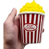 Squishy Toys, Bokeley Soft Cute Popcorn Cup Scented Slow Rising Decompression Toys Stress Relief Toys for Kids Adults (Red)
