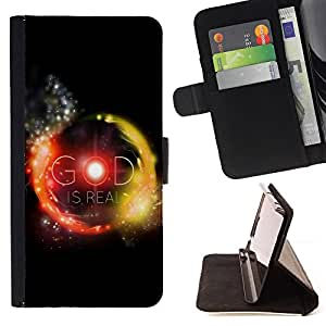 KingStore / Leather Etui en cuir / Samsung Galaxy S3 MINI 8190 / BIBLIA Dios es real