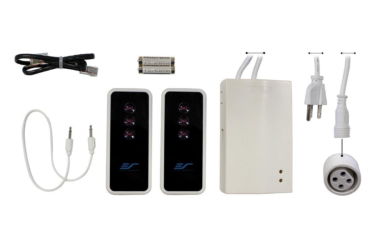 Elite Screens Spectrum 2 Series Optional Remote Control Kit (RF remote, IR remote, 5-12 volt trigger cable)