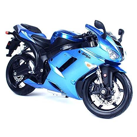 Amazoncom Greensun 112 Kawasaki Ninja Zx 6r Blue Red Motorcycle