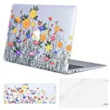 Mosiso Plastic Pattern Hard Case Shell with Keyboard Cover with Screen Protector for MacBook Air 13 Inch (Model: A1369 and A1466), Sunflower