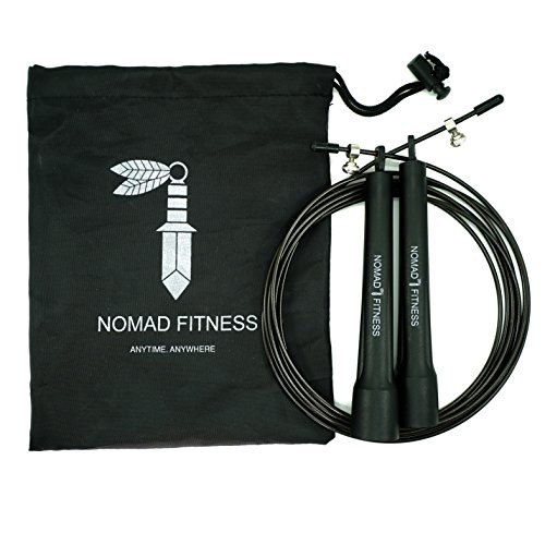 Nomad Fitness Premium Quality Cross Fit Jump Rope | Boxing Fitness Training | MMA Skipping Rope for Men and Women |Cardio Training Fitness Rope | Adjustable Speed Rope | Weighted Jump Rope