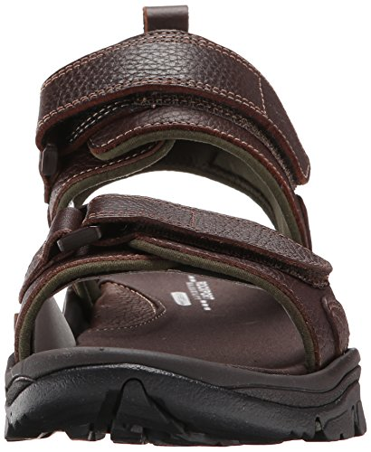 Brown Leather Sport Sandals (Rockport Men's Rocklake Backstrap Sandal,Brown/Brown,14  M)