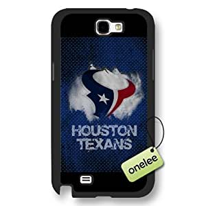 Personalize NFL Houston Texans Team Logo Frosted Black For Case Iphone 6Plus 5.5inch Cover - Black