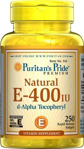 Puritans Pride Vitamin E-400 Iu 100% Natural, 250 Count