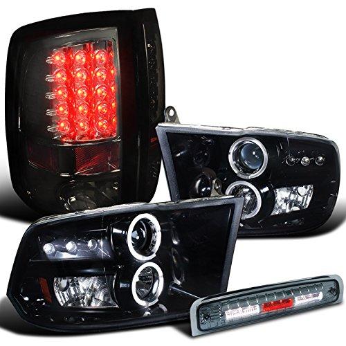 Dodge Projector Headlight Glossy Black