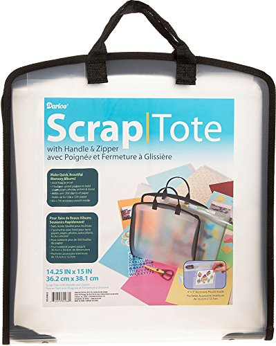 Paper Storage Scrapbooking (Darice 1205-62 13-Inch-by-13-Inch Scrapbook Tote with Handle and Zipper)