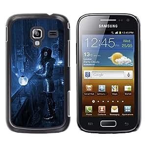 TopCaseStore / la caja del caucho duro de la cubierta de protección de la piel - Sci Fi Future City - Samsung Galaxy Ace 2 I8160 Ace II X S7560M