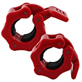 "Barbell Clamp,Dreampark 1"" Diameter ABS Barbells Locking Collars Clamps with Quick Release.(1 Pair)"