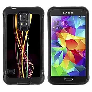 LASTONE PHONE CASE / Suave Silicona Caso Carcasa de Caucho Funda para Samsung Galaxy S5 SM-G900 / Swirl Lights Bright Colors Colours