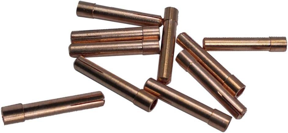 1.6mm gazechimp 10pcs Embouts de Collet en Laiton TIG pour S/érie de Torches de Soudage TIG WP 9 18 26 47mm