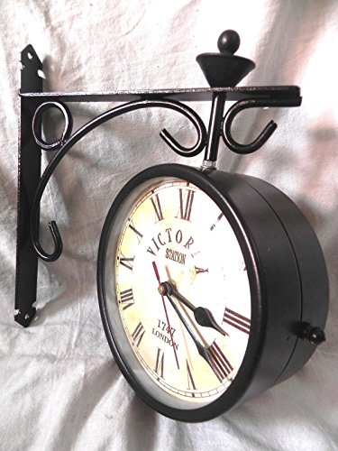 VICTORIA STATION 1747 LONDON RAILWAY CLOCK LONDON DOUBLE SIDE CLOCK 8