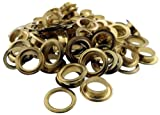 DOVETAIL: 100 Piece Bag Of Brass Plated 3/8 Inch Grommets